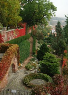 Gardens below Prague castle