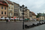 Small Square in center of Cracow (Kraków)