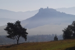 Branisko Mt. and Spiš Castle in mist