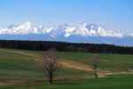 The High Tatras from the east