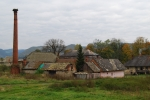 White Stork´s nest in a ruined village